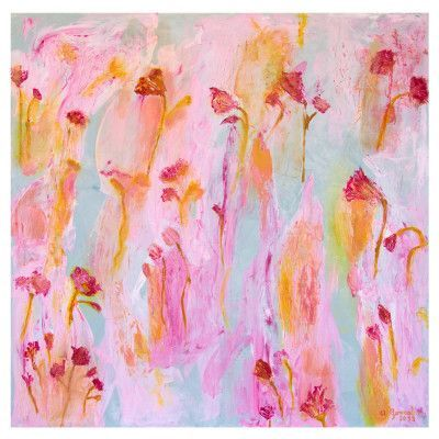 large abstract flowers