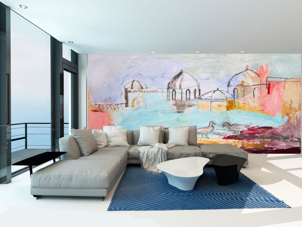 mural abstract landscape